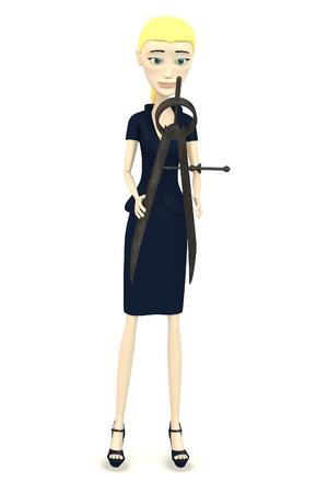 trammel: 3d render of cartoon character with trammel