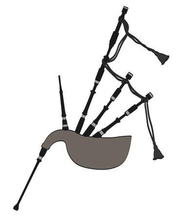 scotish: cartoon image of bagpipe musical instrument