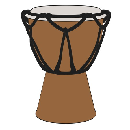 bongo drum: cartoon image of bongo drum