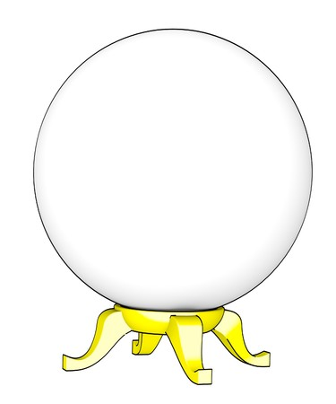 cartoon image of crystal ball photo