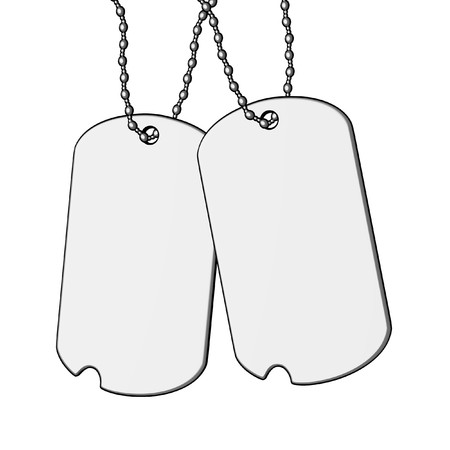 dogtag: cartoon image of dog-tag Stock Photo