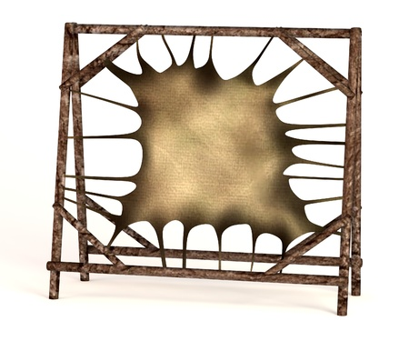 bearskin: realistic 3d render of bearskin Stock Photo