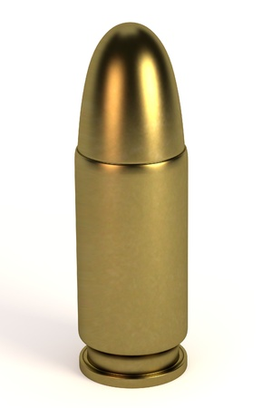 3d bullet: realistic 3d render of bullet