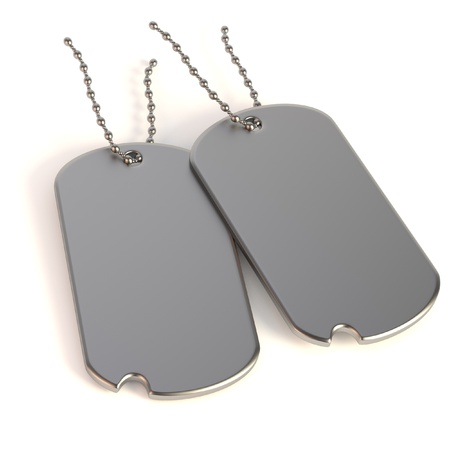 dogtag: realistic 3d render of dog-tag