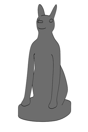 cartoon image of egyptian cat statue photo