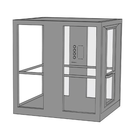 cartoon image of elevator Stock Photo - 24176303