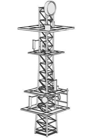 gsm: cartoon image of gsm tower