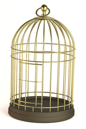 realistic 3d render of bird cage photo
