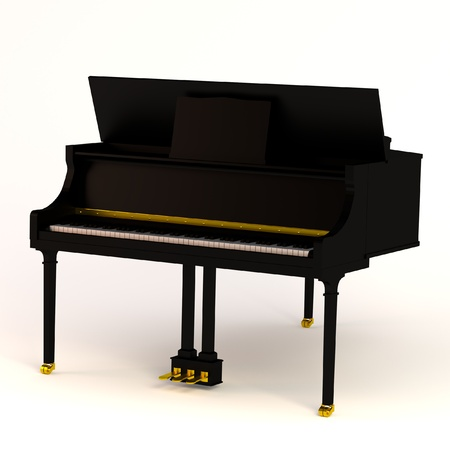 clavier: realistic 3d render of clavier