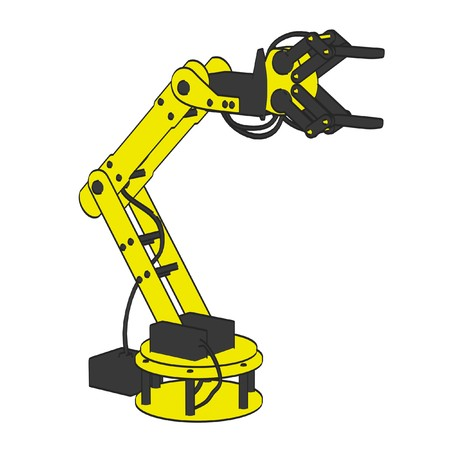 cartoon image of robotic arm photo