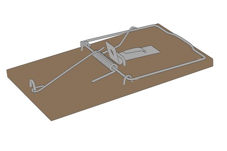 mouse trap: cartoon image of mouse trap