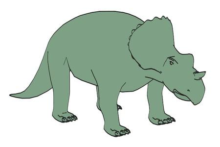 dinosaurus: cartoon image of avaceratops dinosaur
