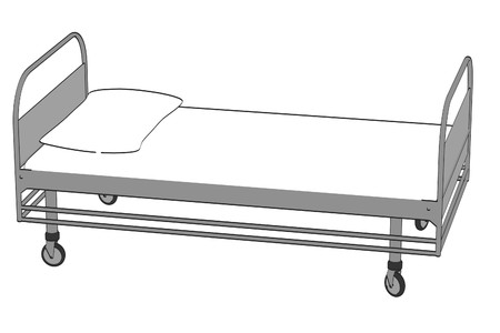 pacient: cartoon image of hospital bed