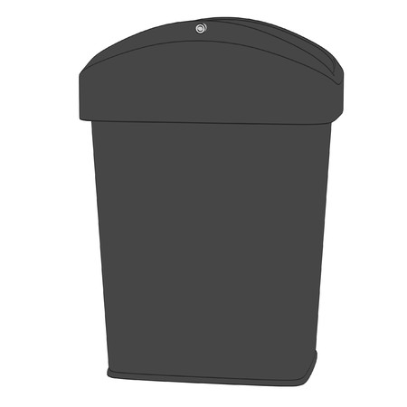 cartoon image of trash bin photo