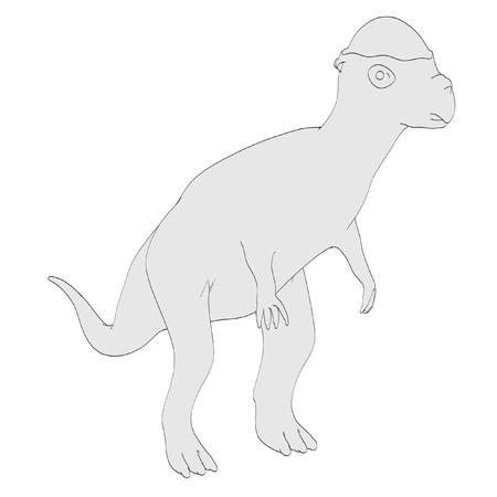 dinosaurus: cartoon image of pachycephalosaurus dino