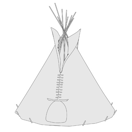 cartoon image of teepee tent photo