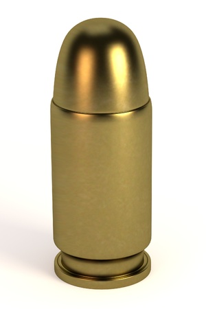 munition: realistic 3d render of bullet