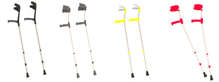 realistic 3d render of crutches Stock Photo - 24266381