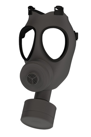 biological warfare: realistic 3d render of gas mask Stock Photo