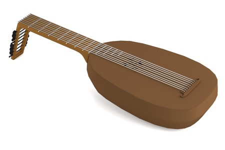 realistic 3d render of lute Stock Photo - 24266407