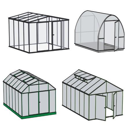 温室建築の漫画画像 写真素材