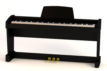 clavier: realistic 3d render of digital piano