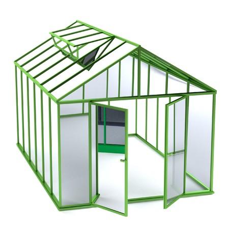 realistic 3d render of greenhouse Zdjęcie Seryjne