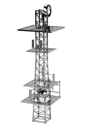 gsm: realistic 3d render of gsm tower