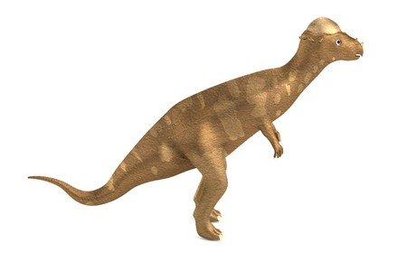 realistic 3d render of pachycephalosaurus photo