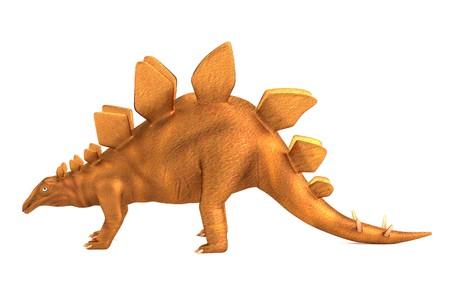 dinosaurus: realistic 3d render of stegosaurus Stock Photo
