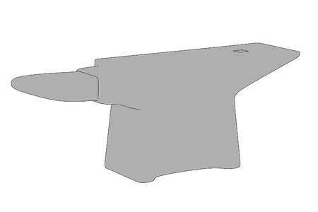 anvil: cartoon image of anvil Stock Photo