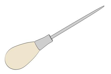 awl: cartoon image of awl tool