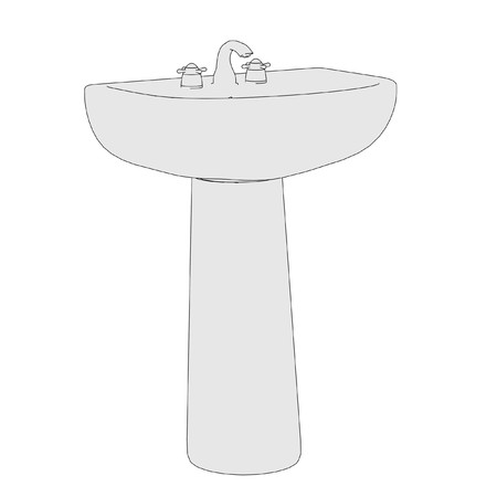 basin: cartoon image of basin (bathroom)