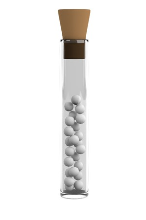 homeopathy: realistic 3d render of homeopathy