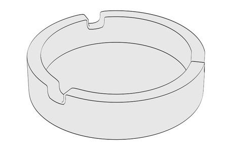 ashtray: cartoon image of empty ashtray Stock Photo