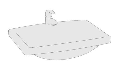 basin: cartoon image of basin (bathroom)