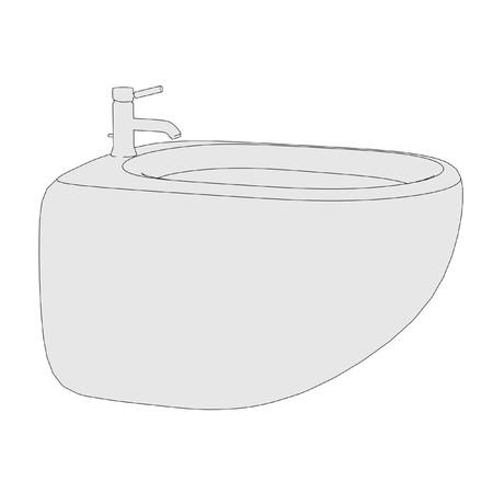 bidet: cartoon image of bidet (bathroom element)