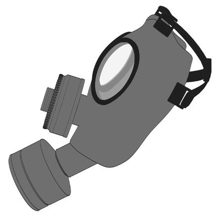 biological warfare: cartoon image of gas mask