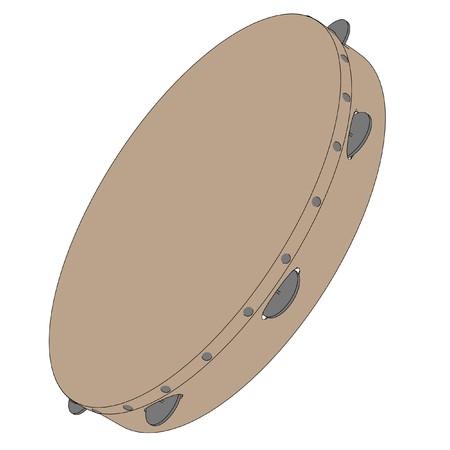 tambourine: cartoon image of tambourine drum
