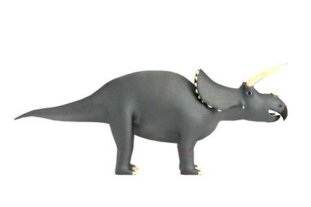 dinosaurus: realistic 3d render of triceratops Stock Photo