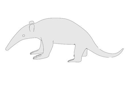 eater: cartoon image of ant eater