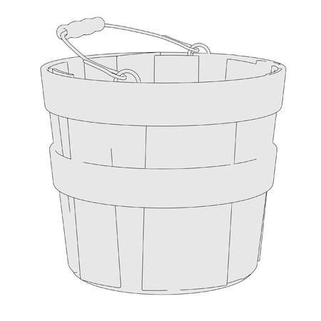 bucket water: caricatura de cubo de agua