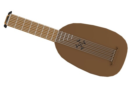 realistic 3d render of lute Stock Photo - 24812574