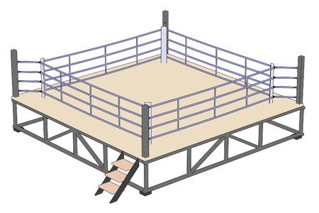 cartoon image of boxing ring 版權商用圖片