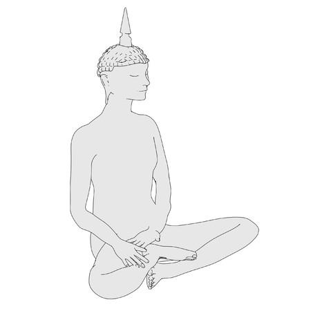 budha: cartoon image of buddha statue