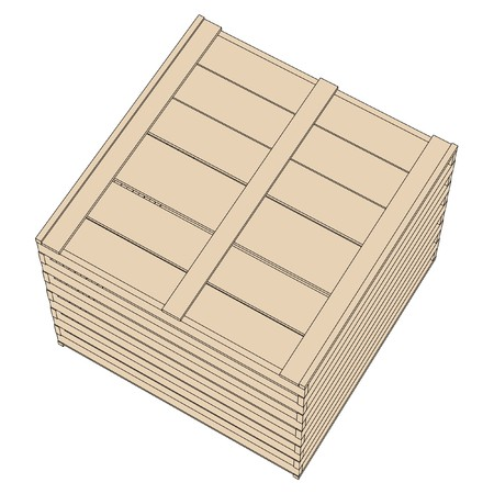 wooden crate: cartoon image of wooden crate