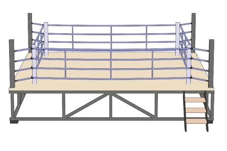 boxing ring: cartoon image of boxing ring Stock Photo