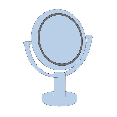 mirror image: cartoon image of cosmetics mirror
