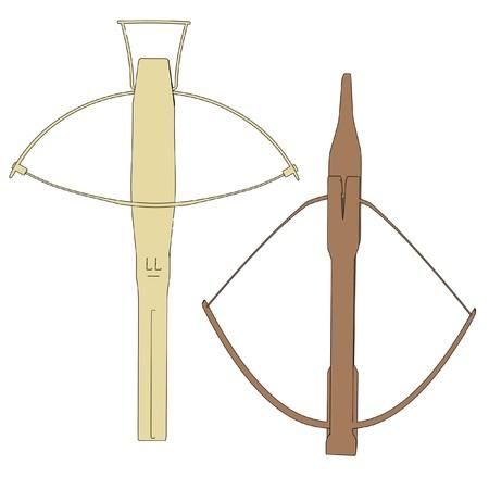 crossbow: cartoon image of crossbow weapon