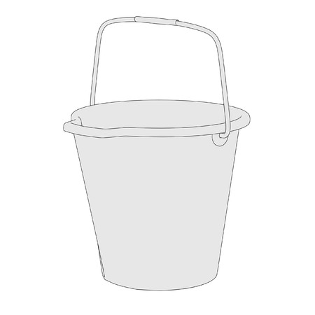 cartoon wood bucket: cartoon image of water bucket